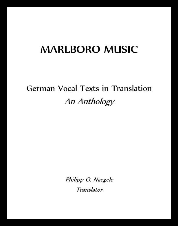 German Vocal Texts in Translations: An Anthology