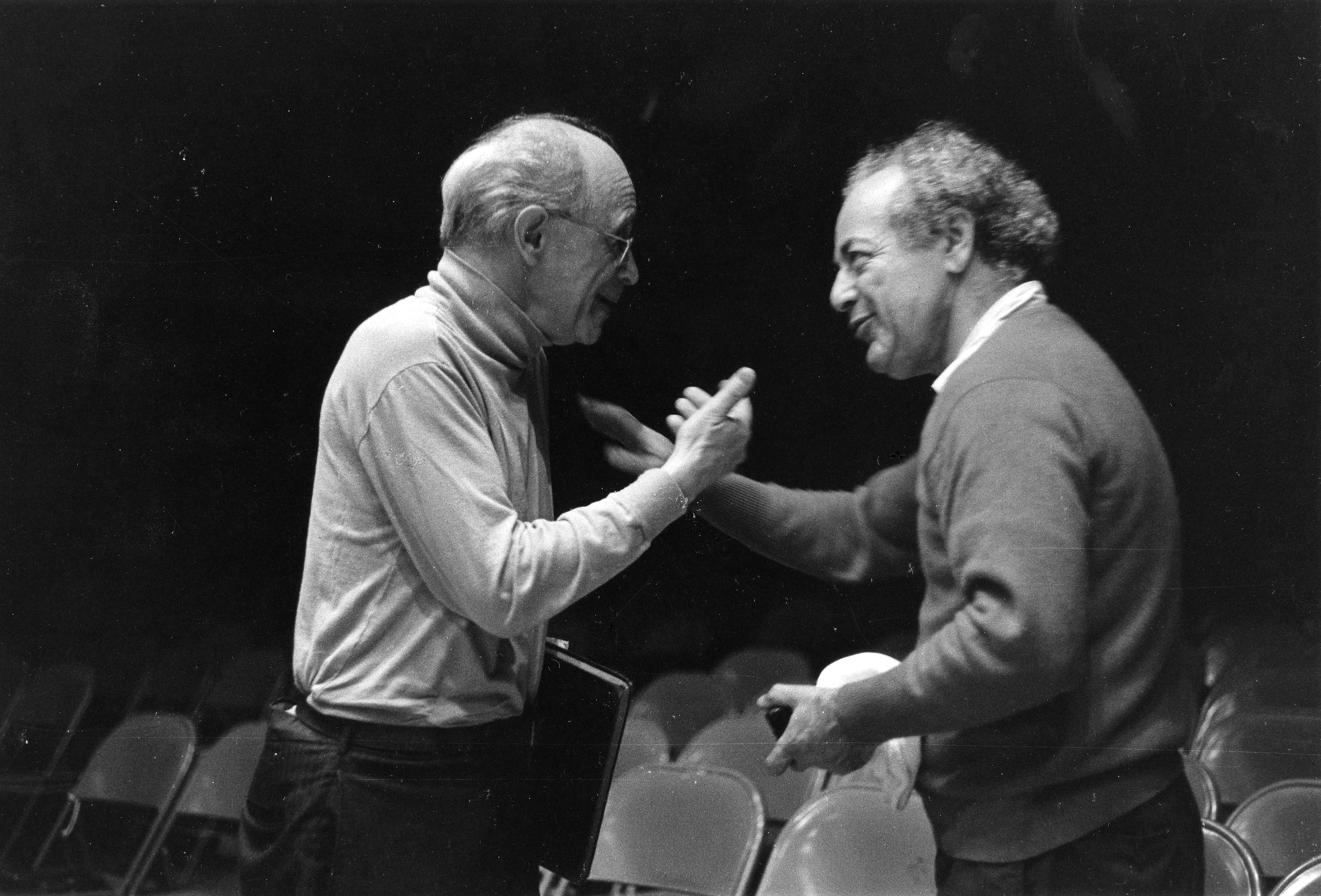 "Rudolf Serkin and Alexander Schneider | ""For me, my purpose is to get young people to learn how to make music. When you make music, it has to come from your heart, from your soul, or it has no meaning. It's an extraordinary experience when I see the results. They produce a sound a professional orchestra couldn't:  a love of music."" -Sasha Schneider"