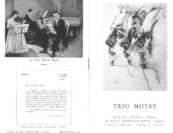 """""""[Even] before my association with Marlboro, I was very familiar with the Moyse Trio's playing via recordings, and the word Moyse, to me at least, is a household word synonymous with the best in woodwinds.""""—Harvey Olnick in a letter to Marcel Moyse, 1956"""