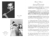 """""""Our age has with Mr. Marcel a hero of the flute, just as we have with Casals a hero of the violincello and with Menuhin a god of the violin.""""—Jean Richard Bloch, as pictured"""
