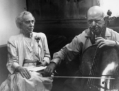 """He was a very simple man. The children loved him. He talked to anyone. He received the king (in this case, the Queen Mother Elisabeth of Belgium, who visited Marlboro with Casals)..."""